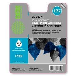 Картридж для HP Серии PhotoSmart Cactus CS-C8771 (голубой) - Картридж для принтера, МФУ