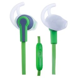 Perfeo PF-SPT (зелено-серый) - НаушникиНаушники и Bluetooth-гарнитуры<br>Вставные наушники (quot;затычкиquot;) с микрофоном, импеданс 16 Ом, чувствительность 100 дБ, диаметр мембраны 10 мм, разъём mini jack 3.5 mm, длина провода 1.2 м.