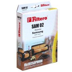 Пылесборники Filtero SAM 02 (4) Эконом - АксессуарАксессуары для пылесосов<br>Пылесборники Filtero SAM 02 (4) Эконом - бумажные, для Samsung.