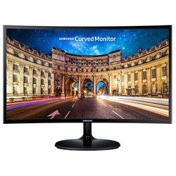 Samsung C24F390FHI (черный) - МониторМониторы<br>ЖК-монитор с диагональю 23.5quot;, изогнутый экран, тип матрицы экрана TFT *VA, разрешение 1920x1080 (16:9), подсветка без мерцания (Flicker-Free), подключение: VGA, HDMI, яркость 250 кд/м2, контрастность 3000:1, время отклика 4 мс.
