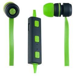 Perfeo Sound Strip (PF-BTS-GRN/BLK) (зелено-черный) - НаушникиНаушники и Bluetooth-гарнитуры<br>Внутриканальные наушники с микрофоном, беспроводные, частотный диапазон наушники 20 - 20000 Гц, чувствительность наушники 100 дБ, импеданс 16 Ом.