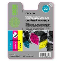 Картридж для HP DeskJet Cactus CS-C9352 (трехцветный) - Картридж для принтера, МФУКартриджи<br>Трехцветный картридж Cactus CS-C9352 для принтеров HP DeskJet 3920, 3940, D1360, D1460, D1470, D1560, D2330, D2360, D2430, D2460, F370, F375, F380, F2180, F2187, F2224, F2280, F2290, F4140, F4172, F4180, F4190, HP Fax 3180, HP OfficeJet 4315, 4355, J3680, J5520, HP PSC 1402, 1410, 1415, 1417 позволит распечатать до 180 страниц.