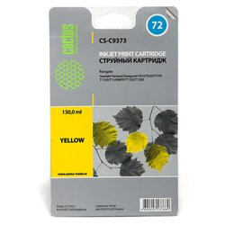 Картридж для HP DesignJet Cactus CS-C9373 (желтый) - Картридж для принтера, МФУКартриджи<br>Желтый картридж Cactus CS-C9373 для принтеров HP DesignJet T610, T620, T770, T1100, T1100MFP, T1100PS, T1120, T1120HD, T1120SD, T1200, T1200ps, T2300eMFP, T2300pseMFP позволит распечатать до 800 страниц.