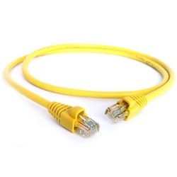 Патч-корд 2хRJ-45 кат.5e 0.5 м (Greenconnect GCR-LNC02-0.5m) (желтый)