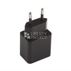 Сетевое зарядное устройство USB, 2A + дата-кабель microUSB (Liberti Project 0L-00026999) (черное) - Сетевое зарядное устройствоСетевые зарядные устройства<br>Устройство предназначено для зарядки аккумулятора Вашего устройства от сети переменного тока.