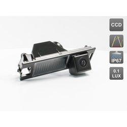 CCD штатная камера заднего вида с динамической разметкой для HYUNDAI IX35 (AVIS AVS326CPR (#027)) - Камера заднего видаКамеры заднего вида<br>Камера проста в установке и незаметна, что позволяет избежать ее кражи или повреждения. Разрешение в 520 линий и широкий угол обзора дают полную информацию всего происходящего сзади, при этом класс пыле- и влагозащиты IP67 позволяет не беспокоиться за сохранность камеры в жестких условиях российских дорог.