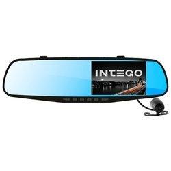 Intego VX-410MR - Автомобильный видеорегистраторВидеорегистраторы<br>Intego VX-410MR - видео 1280x720, экран 4.30amp;quot;, угол 120°, microSDHC