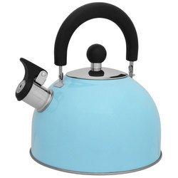 Чайник со свистком Mallony MAL-039-A (голубой) - Посуда для готовкиПосуда для готовки<br>Не рекомендуется мыть в посудомоечной машине. Посуда из нержавеющей стали не предназначена для использования в духовке и микроволновой печи.