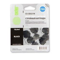 Картридж для HP PhotoSmart Cactus CS-CB321N (черный) - Картридж для принтера, МФУКартриджи<br>Черный картридж Cactus CS-CB321 для принтеров HP PhotoSmart B8553, C5383, C6383, D5463, 5510, 5515, 6510, 6515, 7510, 7515 позволит распечатать до 800 страниц.