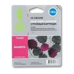 Картридж для HP PhotoSmart Cactus CS-CB324N (пурпурный) - Картридж для принтера, МФУКартриджи<br>Пурпурный картридж Cactus CS-CB324N для принтеров HP PhotoSmart B8553, C5383, C6383, D5463, 5510, 5515, 6510, 6515, 7510, 7515 позволит распечатать до 750 страниц.