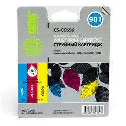 Картридж для HP OfficeJet 4500, J4580, J4660, J4680 Cactus CS-CC656 (трехцветный) - Картридж для принтера, МФУ