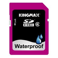 kingmax waterproof sdhc 8gb class 6