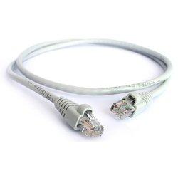 Патч-корд UTP кат. 5е,  RJ45, Greenconnect (GCR-LNC03-1.0m) (серый) - КабельСетевые аксессуары<br>Патч-корд - кабель для соединения компьютеров и сетевого оборудования. С обоих сторон имеет коннекторы RJ45. Литой. Оболочка - ПВХ со стандартным качеством полировки.