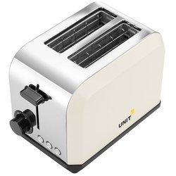 UNIT UST-018 (бежевый) - ТостерТостеры<br>Тостер, мощность 750 Вт, число отделений - 2, число тостов - 2, механическое управление, решетка для подогрева булочек, термоизолированный корпус.