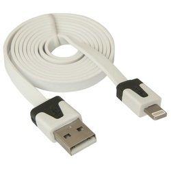 Кабель USB-Lightning для Apple iPhone 5, 5C, 5S, SE, 6, 6 plus, 6S, 6S plus, iPad 4, Air, Air 2, mini 1, mini 2, mini 3, mini 4, PRO 12.9, PRO 9.7 (Defender ACH01-03P) (белый) - Кабели