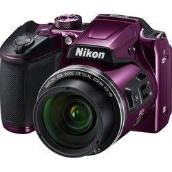 Nikon Coolpix B500 (фиолетовый) - Фотоаппарат цифровойЦифровые фотоаппараты<br>Фотокамера с суперзумом,<br>матрица 16.76 МП (1/2.3quot;),<br>съемка видео Full HD,<br>оптический зум 40x,<br>поворотный экран 3quot;,<br>Wi-Fi,<br>вес с элементами питания 542 г,<br>режим макросъемки