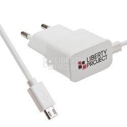 Универсальное сетевое зарядное устройство microUSB 2.1A (LP 0L-00027161) (белое) - Сетевое зарядное устройствоСетевые зарядные устройства<br>Предназначен для заряда устройств с microUSB разъемом, совместимых с выходным током зарядки до 2100 мА и напряжением не более 5В.