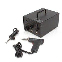 Станция паяльная AOYUE-Int 701A+ (паяльник+экстрактор) (М0021791) - Паяльное оборудованиеПаяльное оборудование<br>Совмещает монтажную и демонтажную паяльные станции в одной. Предназначена для ремонта всех типов печатных плат. Легкий монтаж/демонтаж. Микропроцессорный контроль. Напряжение на паяльнике 24В для обеспечения безопасности пользователя. Экономный и эффективный керамический нагревательный элемент. Паяльник совместим с различными типами сменных жал.