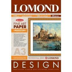 Арт бумага A3 (20 листов) (Lomond 0916032) - БумагаОбычная, фотобумага, термобумага для принтеров<br>Арт бумага предназначена для высококачественной печати и имеет оригинальную фактуру quot;молотковогоquot; тиснения.