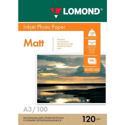 Фотобумага матовая A3 (100 листов) (Lomond 0102162)  - БумагаОбычная, фотобумага, термобумага для принтеров<br>Фотобумага предназначена для струйной печати водорастворимыми или пигментными чернилами.