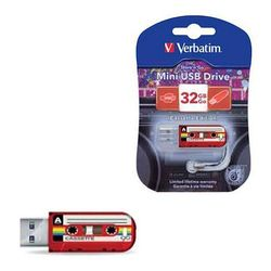 Verbatim Mini Cassette Edition 32Gb (49392) (красный)