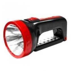 Фонарь-прожектор 2в1 1W+12 SMD Smartbuy SBF-303-K (черный) - ФонарьФонари<br>Аккумуляторный светодиодный фонарь-прожектор, источник света: светодиод 1Вт + 12 SMD, питание: от встроенного аккумулятора 4V 1.2Ah, подзарядка: от сети 220В.