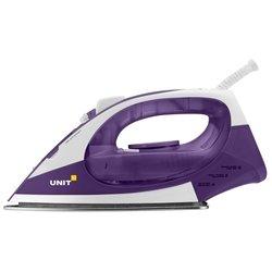 UNIT USI-282 (фиолетовый) - УтюгУтюги<br>Утюг, мощность 2200 Вт, керамическая подошва, паровой удар, вертикальное отпаривание.