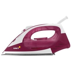 UNIT USI-282 (вишневый) - УтюгУтюги<br>Утюг, мощность 2200 Вт, керамическая подошва, паровой удар, вертикальное отпаривание.