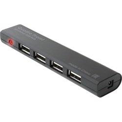 Defender #1 Quadro Promt 4порта (83200) (черный) - USB HUBUSB-концентраторы<br>Универсальный USB-разветвитель, 4 порта, интерфейс USB 2.0, питание от USB-порта, светодиодный индикатор, для работы не требуются дополнительные драйверы, токовая защита портов USB, разъем для блока питания.
