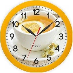 Часы настенные Vigor Д-29 Лимоный чай - Настенные часыЧасы настенные<br>Диаметр 290 мм, кварцевый механизм, пластиковый корпус.