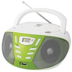 BBK BX193U (бело-зеленый) - МагнитолаМагнитолы<br>CD-магнитола, поддержка MP3, тюнер FM, УКВ, линейный вход, воспроизведение с USB, вес 1.2 кг.