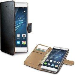 Чехол-книжка для Huawei P9 (Celly Wally Case WALLY576) (черный) - Чехол для телефонаЧехлы для мобильных телефонов<br>Чехол плотно облегает корпус и гарантирует надежную защиту от царапин и потертостей.