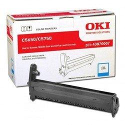 Фотобарабан для Oki C5650, C5750 (43870007) (голубой)  - Фотобарабан для принтера, МФУФотобарабаны для принтеров и МФУ<br>Фотобарабан совместим с Oki C5650, C5750.