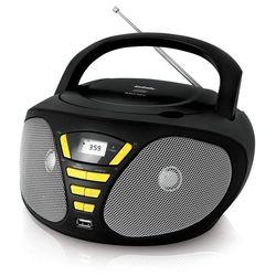 BBK BX180U (черный/желтый) - МагнитолаМагнитолы<br>Мощность 2 Вт, поддержка CD, CDRW, воспроизведение MP3, WMA, интерфейс USB.