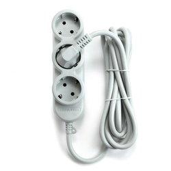 Сетевой удлинитель 5 розеток 3м (Powercube PC-Y-5-32-3) (серый) - Сетевой фильтрУдлинители и сетевые фильтры<br>Количество розеток: 5 (3 с заземлением + 2 без заземления), материал корпуса: огнестойкий полипропилен, номинальный ток нагрузки: 10 А, длина кабеля: 3м.