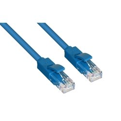 Патч-корд RJ-45 кат. 5e UTP 0.3 м литой (Greenconnect GCR-LNC011-0.3m) (синий) - КабельСетевые аксессуары<br>Высокотехнологичный современный патч-корд Greenconnect для подключения к интернету на высокой скорости. 24AWG, позолоченные контакты.