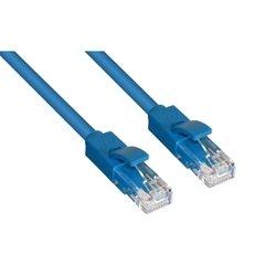 Патч-корд UTP кат. 6, RJ45 1 м (GCR-LNC601-1.0m) (синий) - КабельСетевые аксессуары<br>Высокотехнологичный современный патч-корд Greenconnect для подключения к интернету на высокой скорости.