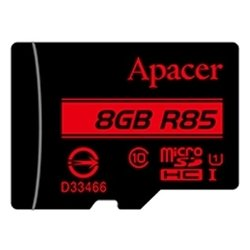 apacer microsdhc card class 10 uhs-i u1 (r85 mb/s) 8gb + sd adapter