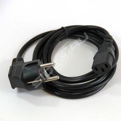 Кабель Питание-Розетка (VCOM CE021-CU0.75-5M) (черный) - Кабель, переходникКабели, шлейфы<br>Кабель с заземлением, диаметр проводника 0.75мм, длина 5м.
