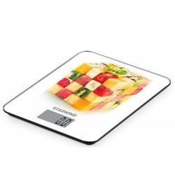 Starwind SSK3359 (фрукты, куб) - Кухонные весыКухонные весы<br>Электронные, до 5 кг, точность 1 г, стекло, тарокомпенсация, автовыключение.