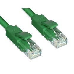 Патч-корд RJ-45 кат. 6 UTP 1 м литой (Greenconnect GCR-LNC605-1.0m) (зеленый)