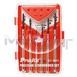 Набор отверток часовых Proskit SD-9815 (10497) - Инструмент для смартфона, планшетаОтвертки для точных работ<br>Proskit SD-9815 - набор из 6 металлических отверток для шлицевых и крестообразных винтов.