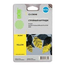 Картридж для HP OfficeJet Pro 8100, 8600 (Cactus CS-CN048) (желтый) - Картридж для принтера, МФУ