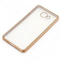 Силиконовый чехол-накладка для Samsung Galaxy A3 2016 (iBox Blaze YT000009683) (золотистая рамка) - Чехол для телефонаЧехлы для мобильных телефонов<br>Чехол плотно облегает корпус и гарантирует надежную защиту от царапин и потертостей.