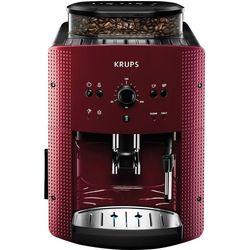 Krups EA810770 (красно-черный) - Кофеварка, кофемашинаКофеварки и кофемашины<br>Мощность 1450Вт, давление помпы 15Бар, регулировка степени помола, тип кофе- молотый/зерновой, самоочистка, каппучинатор, настройка крепости.