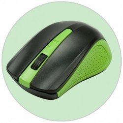 Мышь беспроводная RITMIX RMW-555 (черный/зеленый) - Мышь, клавиатура для компьютера и планшетаКлавиатуры, мыши, комплекты<br>Полноразмерная беспроводная оптическая мышь с эргономичным дизайном. Она отличается чёткостью работы на любой поверхности и простотой в использовании (не требует драйверов). Совместима с Windows и Mac OS, интерфейс подключения - USB.