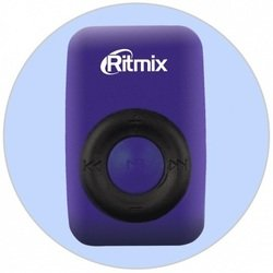 RITMIX RF-1010 (синий) - Mp3 плеерЦифровые плееры<br>MP3-плеер, поддержка microSD до 16 Гб, диапазон воспроизводимых частот 20-20000 Гц, соотношение сигнал/шум 90 дБ, питание литиевая аккумуляторная батарея, емкость аккумулятора 90 мАч, интерфейс передачи данных USB 2.0.
