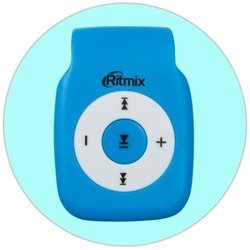 RITMIX RF-1015 (синий) - Mp3 плеерЦифровые плееры<br>MP3-плеер, поддержка microSD до 16 Гб, диапазон воспроизводимых частот 20-20000 Гц, соотношение сигнал/шум 90 дБ, питание литиевая аккумуляторная батарея, емкость аккумулятора 90 мАч, интерфейс передачи данных USB 2.0.