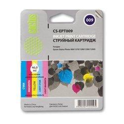 Картридж для Epson PM 3700, 3700C, Stylus Photo 1270, 1280, 1280S, 1290, 1290S, 900 (Cactus CS-EPT009) (многоцветный) - Картридж для принтера, МФУ