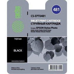 Картридж для Epson PM A870PM D770, R200, R210, R220, R300, R300M, R310, R320, R340, RX300, RX500, RX510, RX600, RX620, RX630, RX640 (Cactus CS-EPT0481) (черный) - Картридж для принтера, МФУ